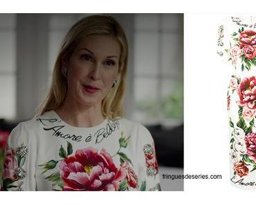 Dynasty : «l'amore à bellezza» print dress for Melissa in s2e03