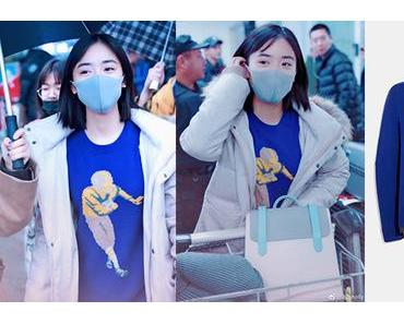 STYLE : Shen Yue wearing a football sweater