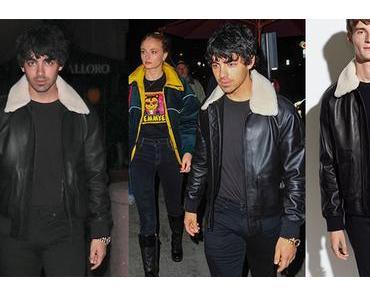 STYLE : Joe Jonas in leather jacket