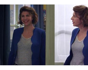 DEMAIN NOUS APPARTIENT : un blazer festonné bleu comme celui de Sandrine dans l'épisode 411