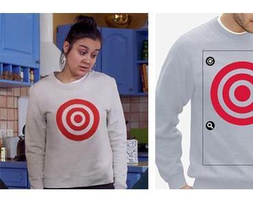 DEMAIN NOUS APPARTIENT : crée un sweatshirt avec une cible rouge comme celui de Noor dans l'épisode 414