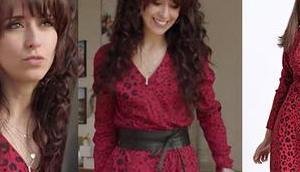 DEMAIN NOUS APPARTIENT robe léopard Justine dans l'épisode