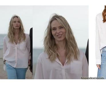 UN SI GRAND SOLEIL : la chemise blanche du docteur Janet Lewis dans l'épisode 228