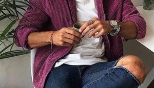 STYLE veste violette comme Hugo Philip