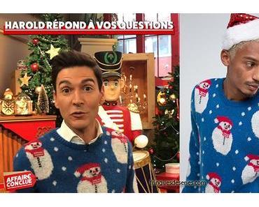 AFFAIRE CONCLUE : Harold ressort déjà son pull de Noël