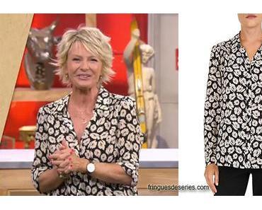 AFFAIRE CONCLUE : la chemise en crêpe fleurie de Sophie Davant