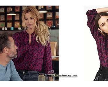 DEMAIN NOUS APPARTIENT : la blouse léopard de Chloé dans l'épisode 592