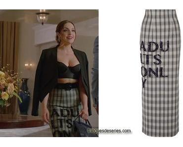 DYNASTY : Fallon's « adults only » print skirt