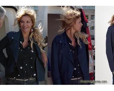 DEMAIN NOUS APPARTIENT : la veste bleue zippée de Chloé dans l'épisode 593