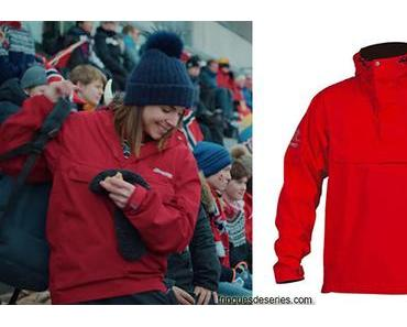 HOME FOR CHRISTMAS : Johanne's red anorak