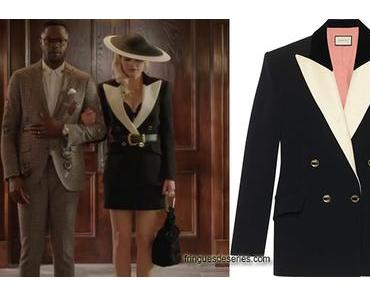 DYNASTY : Black and white jacket for Alexis in s3e08