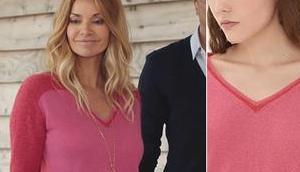 DEMAIN NOUS APPARTIENT pull rouge rose Chloé dans l'épisode