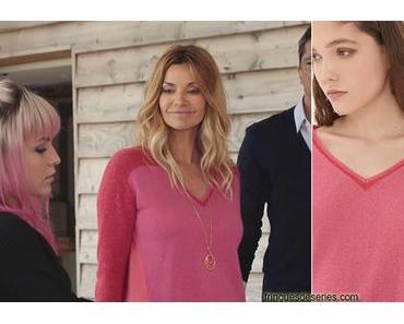 DEMAIN NOUS APPARTIENT : le pull rouge rose de Chloé dans l'épisode 614