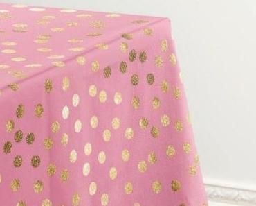 Pink Glitter Tablecloth
