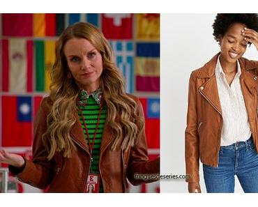 HIGH SCHOOL MUSICAL : THE MUSICAL : THE SERIES : Miss Jenn's leather jacket in S1E08