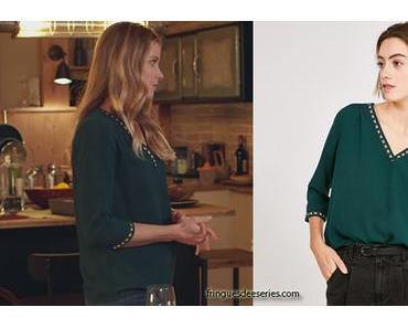 DEMAIN NOUS APPARTIENT : la blouse verte de Virginie dans l'épisode 635