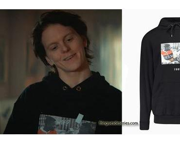 RAGNARÖK : Laurits's black «fresh prince» hoodie in S1E01
