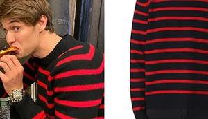 STYLE Colin Ford's striped sweater