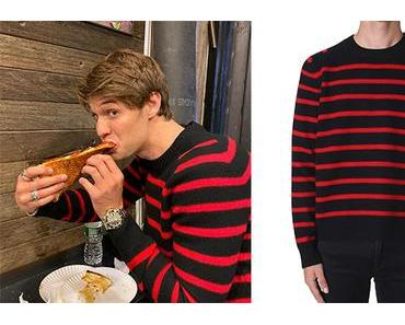 STYLE : Colin Ford's striped sweater
