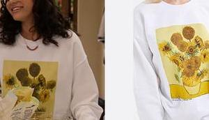 EXPANDING UNIVERSE ASHLEY GARCIA Ashley's Sunflowers print sweatshirt S1E05