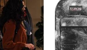 EXPANDING UNIVERSE ASHLEY GARCIA Ashley's galaxy print backpack S1E01