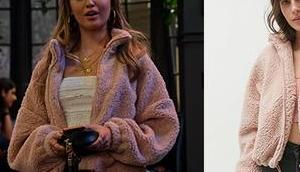 EXPANDING UNIVERSE ASHLEY GARCIA Brooke's pink jacket S1E03