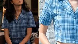 EXPANDING UNIVERSE ASHLEY GARCIA Ashley's blue plaid outfit S1E04
