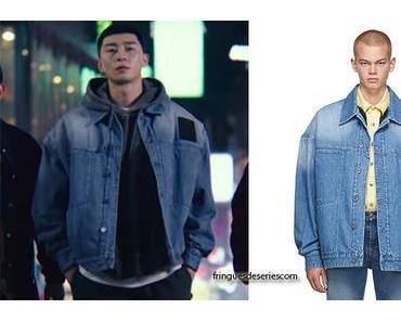 ITAEWON CLASS : Sae Ro Yi's big denim jacket in S1E01
