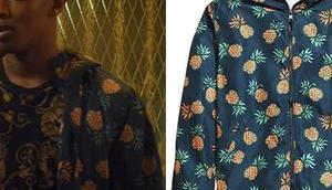 BLOOD WATER KB's pineapple print windbreaker