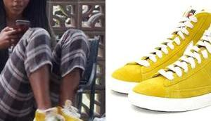 BLOOD WATER Puleng's yellow mustard shoes
