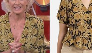 AFFAIRE CONCLUE Sophie Davant chemise imprimé python