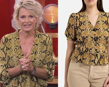 AFFAIRE CONCLUE : Sophie Davant en chemise imprimé python