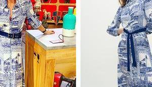 AFFAIRE CONCLUE Sophie Davant robe longue soie imprimée