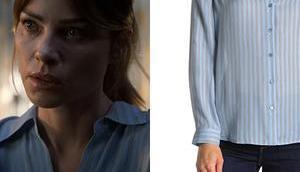 LUCIFER Chloe's striped silk blouse S5E01