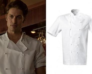 EMILY IN PARIS : Gabriel's white Grand Chef Jacket in S1E02