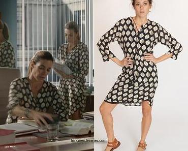 UN SI GRAND SOLEIL : la robe à imprimé losanges de Cécile dans l'épisode 518