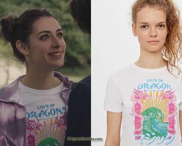 """ICI TOUT COMMENCE : le t-shirt """"love of dragons"""" de Célia dans l'épisode 12"""