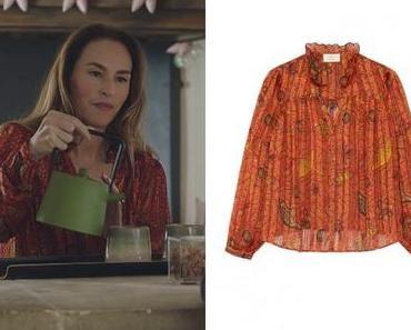 ICI TOUT COMMENCE : la chemise rouge orange de Rose