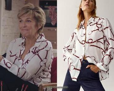 DEMAIN NOUS APPARTIENT : la chemise imprimé chaines d'Anne-Maries dans l'épisode 815