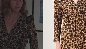 DEMAIN NOUS APPARTIENT robe imprimé animal Sandrine dans l'épisode