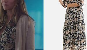 TOUT COMMENCE robe imprimée Rose dans l'épisode