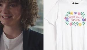 """TOUT COMMENCE t-shirt """"Live your truth"""" Kely dans l'épisode"""