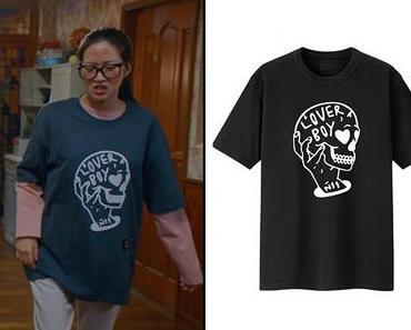 TRUE BEAUTY : Ju-kyung's Lover Boy print t-shirt in S1E02