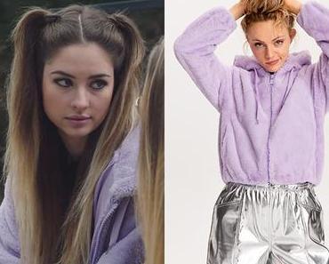 ICI TOUT COMMENCE : la veste en fausse fourrure lilas de Charlène dans l'épisode 100