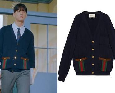 TRUE BEAUTY : Su-Ho's navy cardigan in S1E03