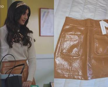 DEMAIN NOUS APPARTIENT : la jupe en cuir camel de Camille dans l'épisode 889