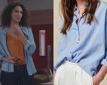 DEMAIN NOUS APPARTIENT : la chemise à rayures de Clémentine dans l'épisode 912