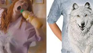 t-shirt loup neiges Morgane dans l'épisode