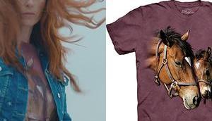 t-shirt chevaux Morgane dans l'épisode