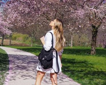 Cherry blossom & jupe plissée façon tennis